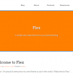 Flex Lite theme on the wordpress.org repository